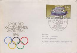 Sport 303) Olympia Montreal 1976: DDR Mi# 2130 FDC: Schießsportanlage, Suhl - Ete 1976: Montréal