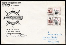 """ARCTIC, CANADA, Vale Island, 22.11.1971, Cachet """"M/V  NORWETA"""", Sign Captain , Look Scan !! 6.1-49 - Arctische Expedities"""
