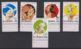 Sport 309) Olympia Atlanta 1996: San Marino Mi# 1640-1644 **: Diskus, Ringen, Weitsprung, Speerwerfen, Laufen - Summer 1996: Atlanta