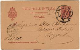 SPAGNA - ESPAÑA - Spain - Espagne - 1899 - Postkarte - Carte Postale - Post Card - Intero Postale - Entier Postal - P... - Interi Postali