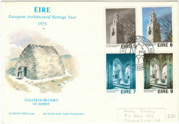 IRLANDA - IRLANDE - Ireland - EIRE - 1975 - European Architectural Heritage Year - FDC - FDC