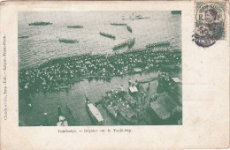C.P. CAMBODGE. TIMBRE 1910. REGATES SUR LE TONLE-SAP /4692 - Cambodge