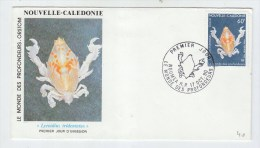 New Caldonia CRAB FIRST DAY COVER FDC 1990 - Meereswelt