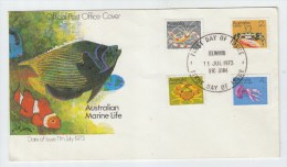 Australia FISH CRABS FIRST DAY COVER FDC 1973 - Meereswelt