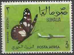 Somalia - 1961 Butterflies (Danaus Formosa) 3s MNH **      SG 380   Sc C79 - Somalia (1960-...)