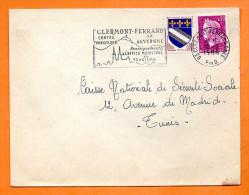63 CLERMONT FERRAND  OFFICE MUNICIPAL DE TOURISME  10 / 2 / 1968     Lettre Entière N° F 648 - Postmark Collection (Covers)