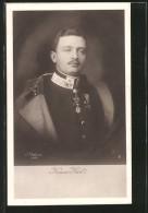 AK Kaiser Karl I. Von Österreich Mit Mantel über Den Schultern - Familles Royales