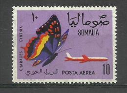 SOMALIA - 1961 Butterflies (Charaxes Cynthia ) 10s MNH **      SG 382  Sc C81 - Somalia (1960-...)
