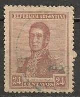 Timbres - Amérique - Argentine - 1917 - 24 C. - - Argentina