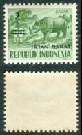 INDONESIA 1963 Badak 1s. On 70s. Optd West-Irian, VF MNH - Rhinozerosse