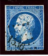 France 1853   (n°14 Ob. PC. 1536  -  ILLIERS  ) - 1853-1860 Napoleone III