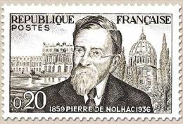 Centenaire De La Naissance De L'historien Pierre Girauld De Nolhac. 20c. Noir Et Gris Y1242 - France