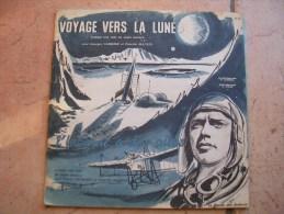 """33 Tours 25 Cm -  VOYAGE VERS LA LUNE """" L'HOMME A DES AILES """" - RONDE 13 - Enfants"""