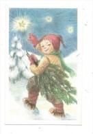 11263 - Mini Carte Enfant  Portant Sapin Paysage Hiver Par A.Bo - Altri