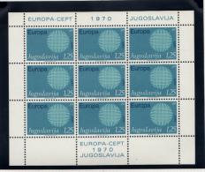 Jugoslavija - Europa 1970 Feuillet Sheet - 1945-1992 République Fédérative Populaire De Yougoslavie