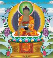 12 DEEDS OF LORD BUDDHA SOUVENIR SHEET BHUTAN 2014 MINT - Buddismo