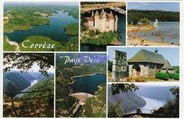 CPM De CORREZE  (19) -  Le Pays VERT - Lac Et Plage De NEUVIC - Eglisse De PALISSE ... édit FRANCE REGARD - Other Municipalities