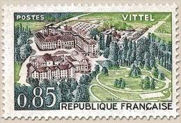Série Touristique. Vittel  85c. Vert-jaune, Vert Et Violet-brun Y1393 - Frankreich