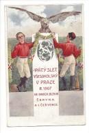 11272 -  K Patému Sletu Vsesokolskému V Praze R 1907 Cervna - Tchéquie