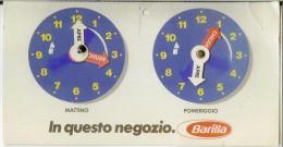 Orario Pubblicitario Pasta Barilla Anni '80. Orari Apertura Negozio (pubblicità Pasta). - Insegne