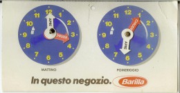 Orario Pubblicitario Pasta Barilla Anni '80. Orari Apertura Negozio (pubblicità Pasta). - Uithangborden