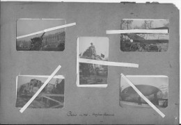 Trophées Allemands Exposés à Paris En 1918 Canons Tank Avion Ballon 5 Photos 1914-1918 14-18 Ww1 Wk1 - War, Military