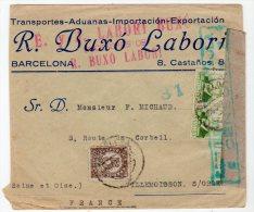 ESPAGNE - LETTRE Censurée Pour La France - 1931-Today: 2nd Rep - ... Juan Carlos I