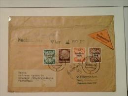 Militaria : ;Lettre De Remboursement Timbres Deutsches Reich Surchargés Luxemburg  Et RPF En 1940 Et Dantzig - Brieven En Documenten