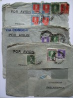 ARGENTINA 3 X 1934 AIR MAIL COVERS FROM BUENOS AIRES TO MANCHESTER ENGLAND - Argentina
