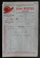 Facture - Dpt 52  - Escargots Menetrel - Alfred Menetrel Maizieres Par Chevillon ( Haute Marne ) - 1911 - Francia