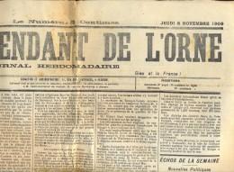 Krant Gazette L' Independance De L' Orne - 8 Nov. 1900 - Kranten