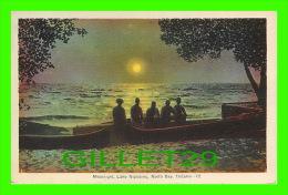 NORTH BAY, ONTARIO - MOOLIGHT LAKE NIPISSING - ANIMATED WITH PEOPLES - PECO - - North Bay
