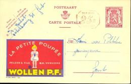 Pub Reclame La Petite Poupée - Pelzer & Fils Verviers - Publibel 780 - - Publibels