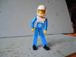 Légo Figurine Pilote En Tenue Bleue Avec Casque Blanc - Lego Technic