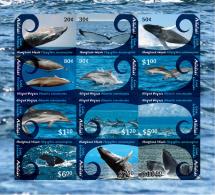 ait1202S1 Aitutaki 2012 Whales Dolphins Definitive Part I s/s Scott:593