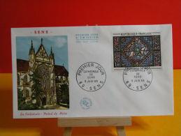 FDC- Cathédrale De Sens - Sens - 5.6.1965 - 1er Jour, Cote 6 € - FDC
