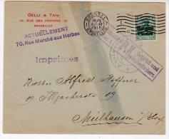 BELGIQUE - LETTRE Censurée - Le 06/06/1915 - Guerre 14-18