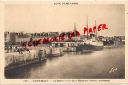 35 - SAINT MALO -  LE BASSIN ET LA GARE MARITIME - Saint Malo
