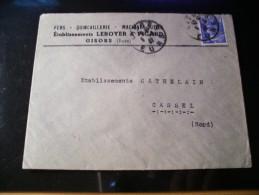 Enveloppe Fers,quincaillerie,machines,outils,établissements Leroyer Picard, Gisors (Eure),n°718A Seul Sur Lettre - 1945-54 Marianne Of Gandon