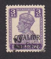 India, Gwalior, Scott #104, Used, King George VI Overprinted, Issued 1944 - Gwalior