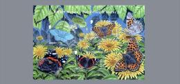 2012 Jersey -Jersey Nature  -Butterflies And Moths III - MS - Paper - MNH** - Mariposas