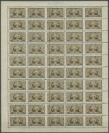 Mittellitauen 41 A Postfrisch Freimarken Kompletter Bogen Mit Markanter Fehlzähnung - Lithuania