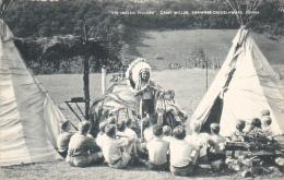 The Indian Village Camp Miller Shawnee-On-Delaware Pennsylvania Artvue - Scoutisme