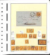 FRANCE Collection Timbre N°23 Empire Lettre Roue Espagnole, Oblitération Losange - France