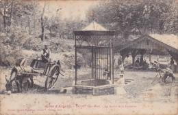 CPA 40 @ MOLIETS Et MAA @ Le Lavoir Et La Fontaine En 1907 - Attelage D´ âne - Lavandières - Côte D´argent - Sonstige Gemeinden