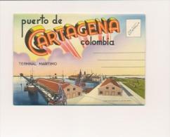 CPSM COLOMBIE Carte-lettre 18 Vues Puerto De Cartagena - Colombia