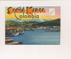 CPSM COLOMBIE Carte-lettre 18 Vues Santa Marta - Colombia