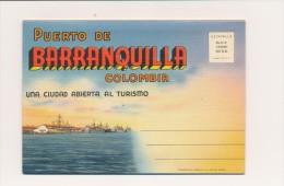 CPSM COLOMBIE Carte-lettre 18 Vues Puerto De Barranquilla - Colombia