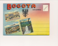 CPSM COLOMBIE Carte-lettre 18 Vues Bogota - Colombia