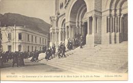 MONACO -- MONTE CARLO   -- CPA  --Le Gouverneur Et Les Autorités Sortant De La Messe Le Jour De La Fête Du Prince - Cathédrale Notre-Dame-Immaculée